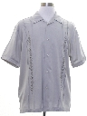 Mens Guayabera Inspired Sport Shirt