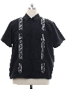 Mens Guayabera Style Club Shirt