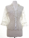 Womens Ruffled Front Lace Shirt