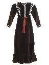 Womens or Girls Velveteen Prairie Hippie Dress