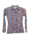 Womens/Girls Print Disco Style Cotton Blend Shirt