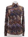 Womens Print Disco Style Western Shirt
