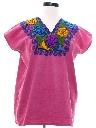 Womens Embroidered Hippie Shirt