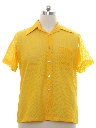 Mens Sheer Mesh Mod Sport Shirt