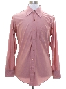 Mens Solid Shiny Nylon Disco Shirt