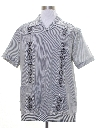 Mens Embroidered Guayabera Shirt
