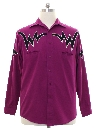 Mens Totally 80s Rodeo Style Western Shirt