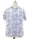 Mens Reverse Print Hawaiian Style Shirt