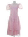 Womens Pretty In Pink Maxi Prom Or Cocktail Dress