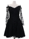 Womens Goth Lace Prom Or Cocktail Dress