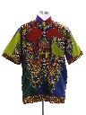 Mens Hippie Dashiki Print Shirt