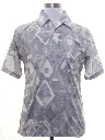 Mens Resort Wear Style Print Disco Shirt