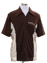 Mens Bowling Style Print Disco Shirt