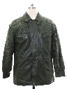 Mens Totally 80s Leather Car Coat Jacket