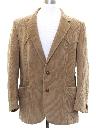 Mens Corduroy Western Style Blazer Sportcoat Jacket