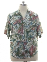 Mens Totally 80s Graphic Print Rayon Shirt