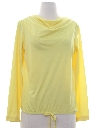 Womens Solid Pullover Disco Style Shirt