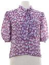 Womens Totally 80s Print Secretary Shirt