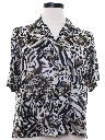 Womens Totally 80s Animal Print Shirt