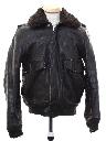 Mens Bomber Leather Flight Jacket