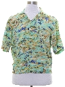 Mens Rayon Hawaiian Shirt Jac Shirt