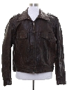 Mens AMF Harley Davidson Motorcycle Leather Jacket