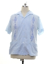 Mens Embroidered Hippie Style Guayabera Shirt