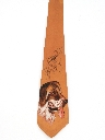 Mens Wide Handpainted Hunting Necktie