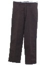 Mens Flat Front Work Pants