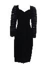 Womens Velveteen Totally 80s Prom Or Cocktail Dress