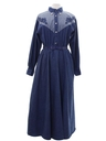 Womens Totally 80s Denim Western Dress