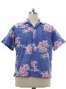 Mens Totally 80s Reverse Print Hawaiian Shirt
