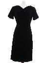Womens Little Black Velvet Cocktail Dress
