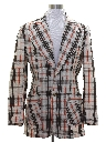 Mens Plaid Blazer Style Sport Coat Jacket