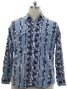Mens Totally 80s Southwestern Print Western Shirt
