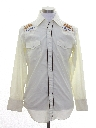 Mens Labatts Beer Hippie Embroidered Western Shirt