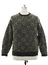 Mens Wool Snowflake Sweater