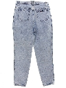 Womens Highwaisted Totally 80s Acid Washed Denim Jeans Pants