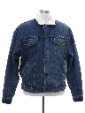 Mens Denim Sherpa Jacket