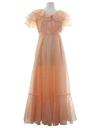 Womens Prairie Style Prom Or Cocktail Dress