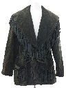 Womens Fringed Suede Leather Jacket