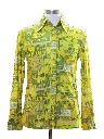 Mens Western Style Photo Print Disco Shirt