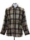 Mens Plaid Wool Flannel Shirt