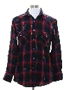 Mens Western Plaid Flannel Shirt