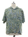 Mens Silk Hawaiian Shirt