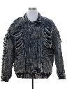Unisex Totally 80s Thrasher Acid Washed Denim Grunge Jacket