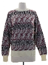 Womens Paisley Sweater