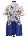Womens Mod Knit Brady Bunch Style Mini Dress