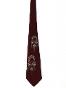 Mens Handpainted Wide Swing Necktie
