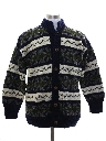 Mens Ecuadorian Heavy Wool Hand Knit Cardigan Sweater